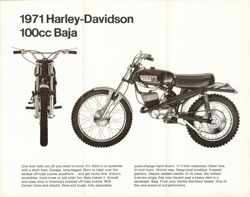 1971 - Harley-Davidson - Folletos