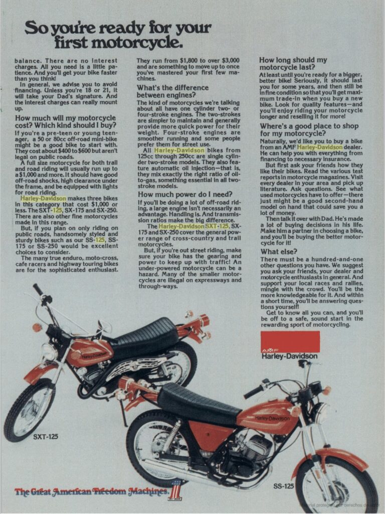 1976 - Harley-Davidson - Folletos