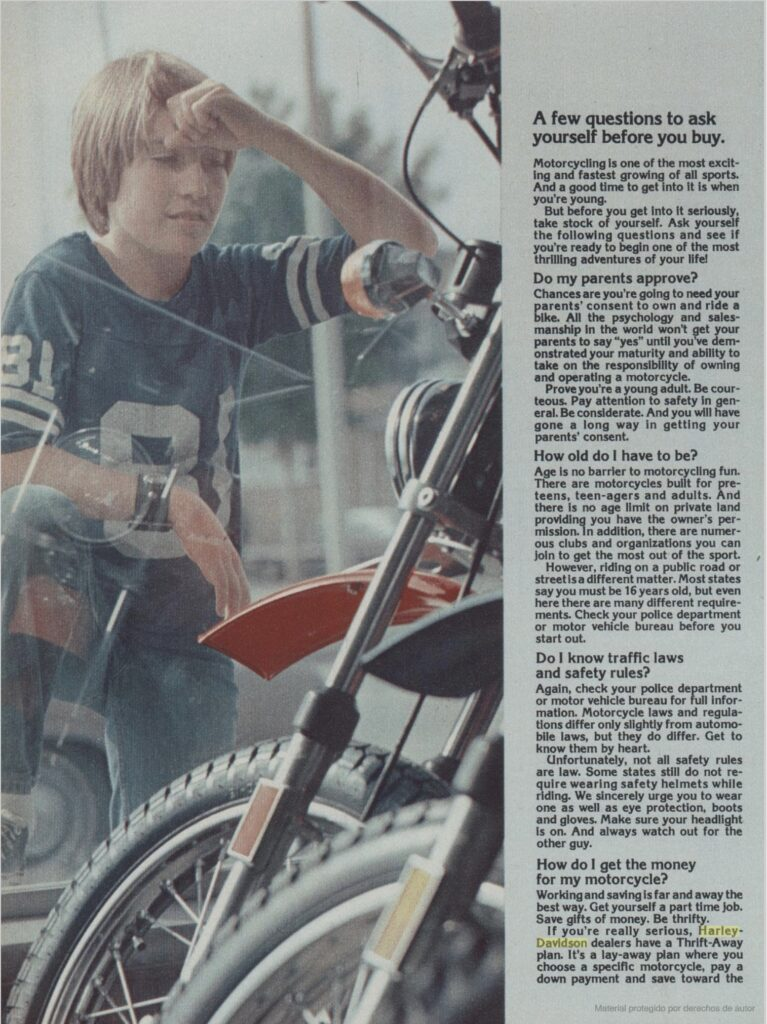 1976 - Harley-Davidson - Folletos