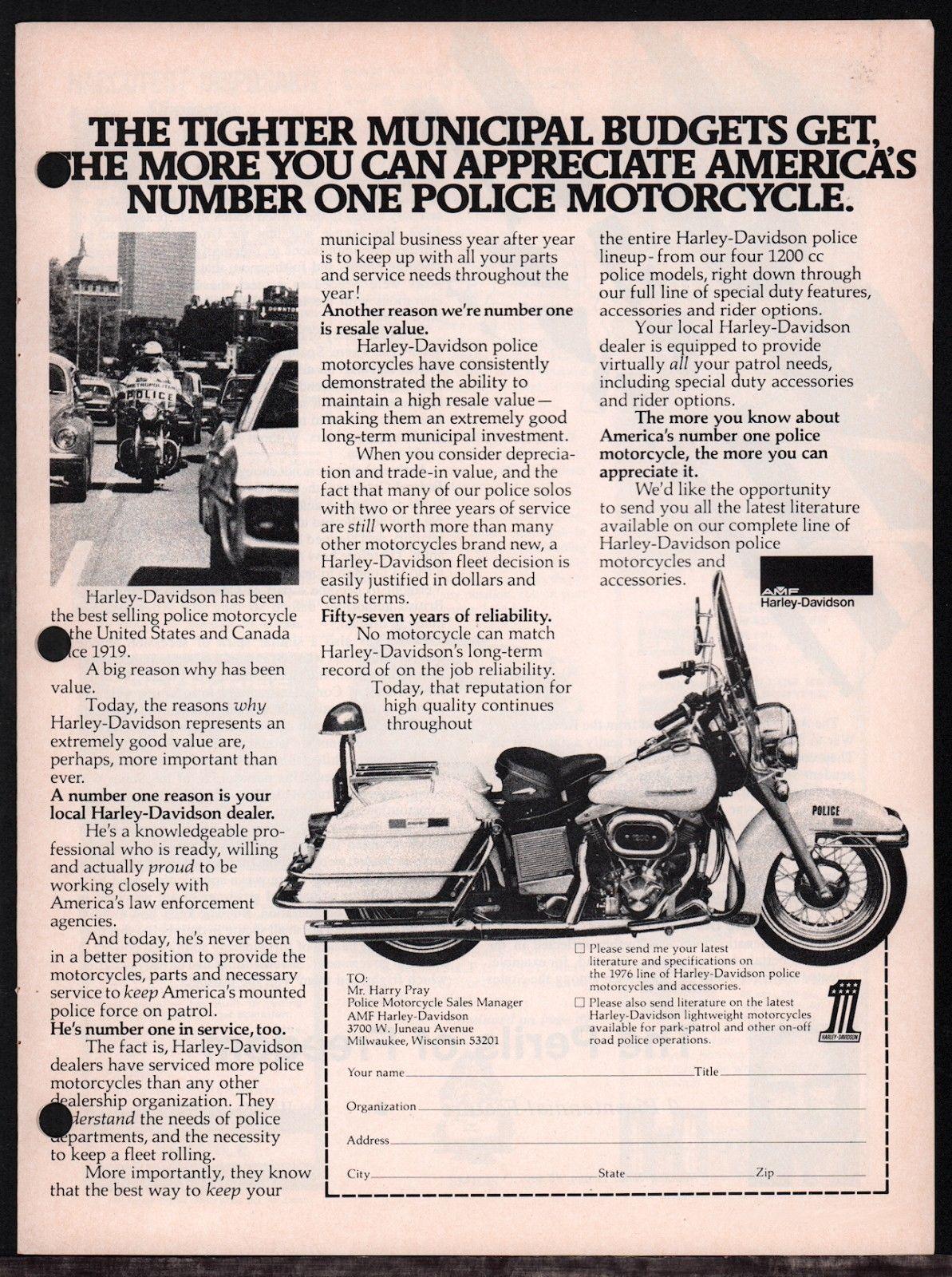 Anuncio de modelo de Policía de 1976