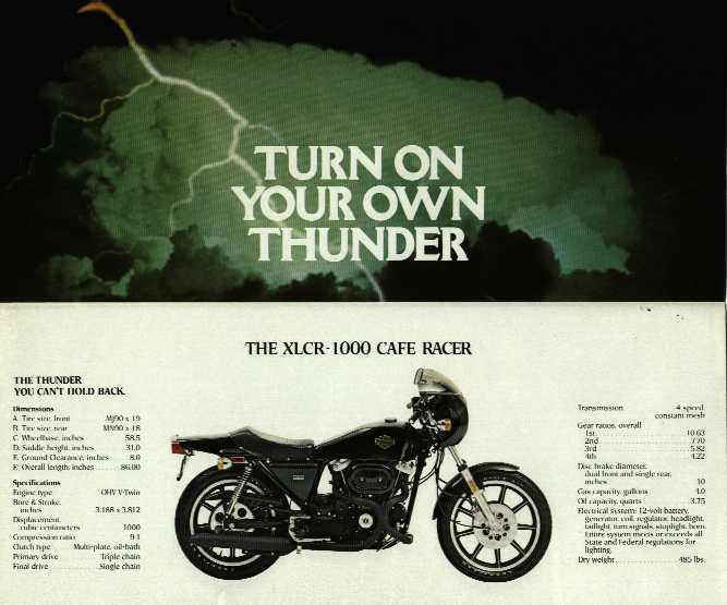 1977 - Harley-Davidson - Folletos