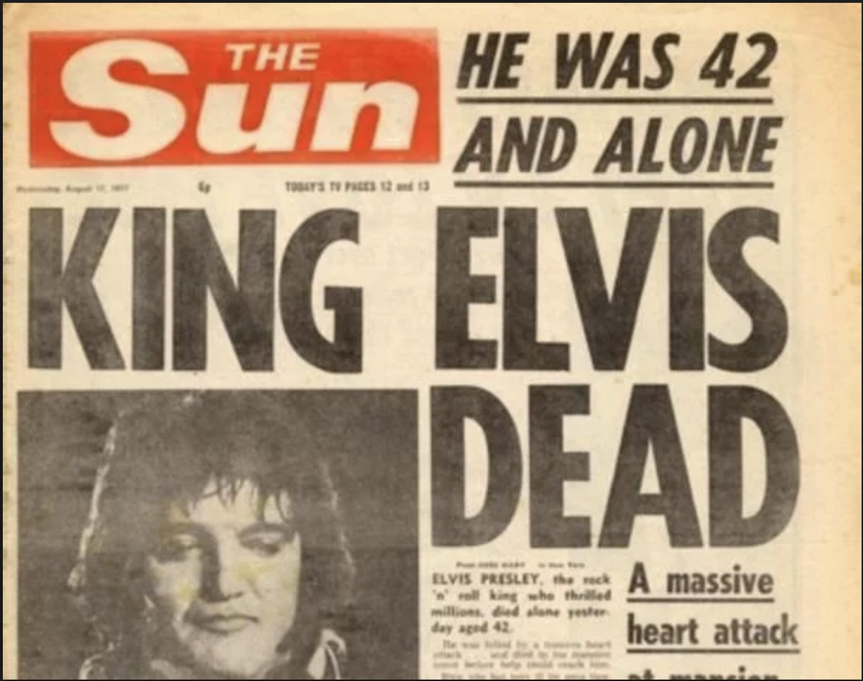Fallece Elvis Presley