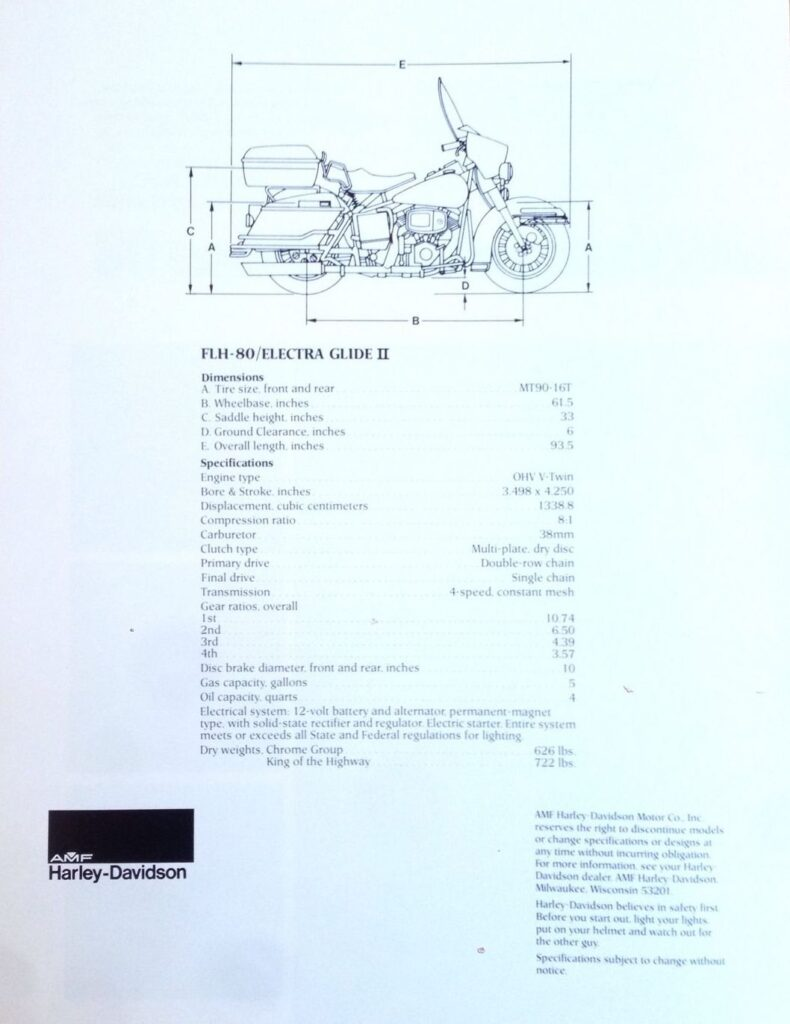 1978 - Harley-Davidson - Folletos
