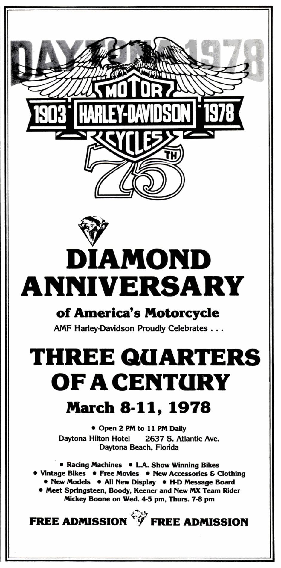 Actos celebración 75 aniversario en Daytona