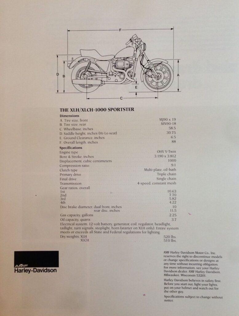 1979 - Harley-Davidson - Folletos