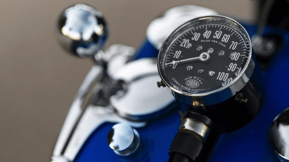 Harley-Davidson VLH de 1936 - velocímetro