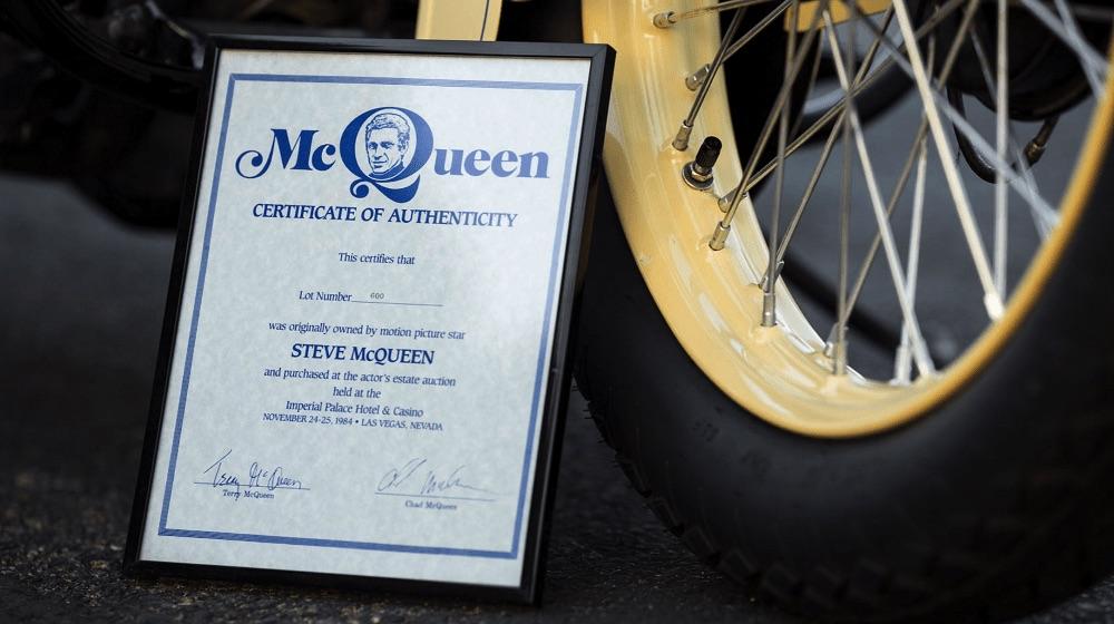 Harley-Davidson VLH de 1936 - Certificado
