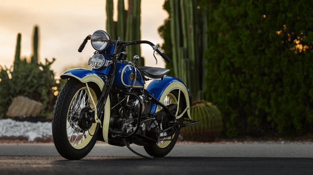 Harley-Davidson VLH de 1936 - Vista izquierda