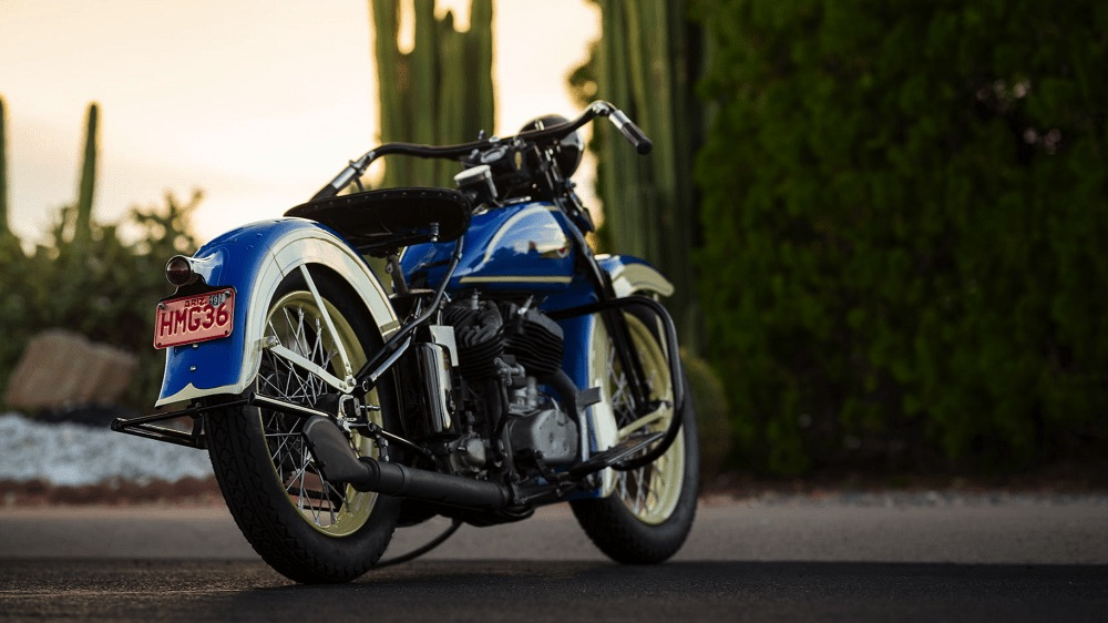 Harley-Davidson VLH de 1936 - Vista trasera derecha