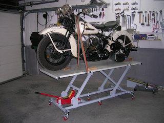 elevador casero para motos