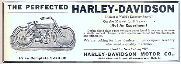 1910 - Harley-Davidson the perfect