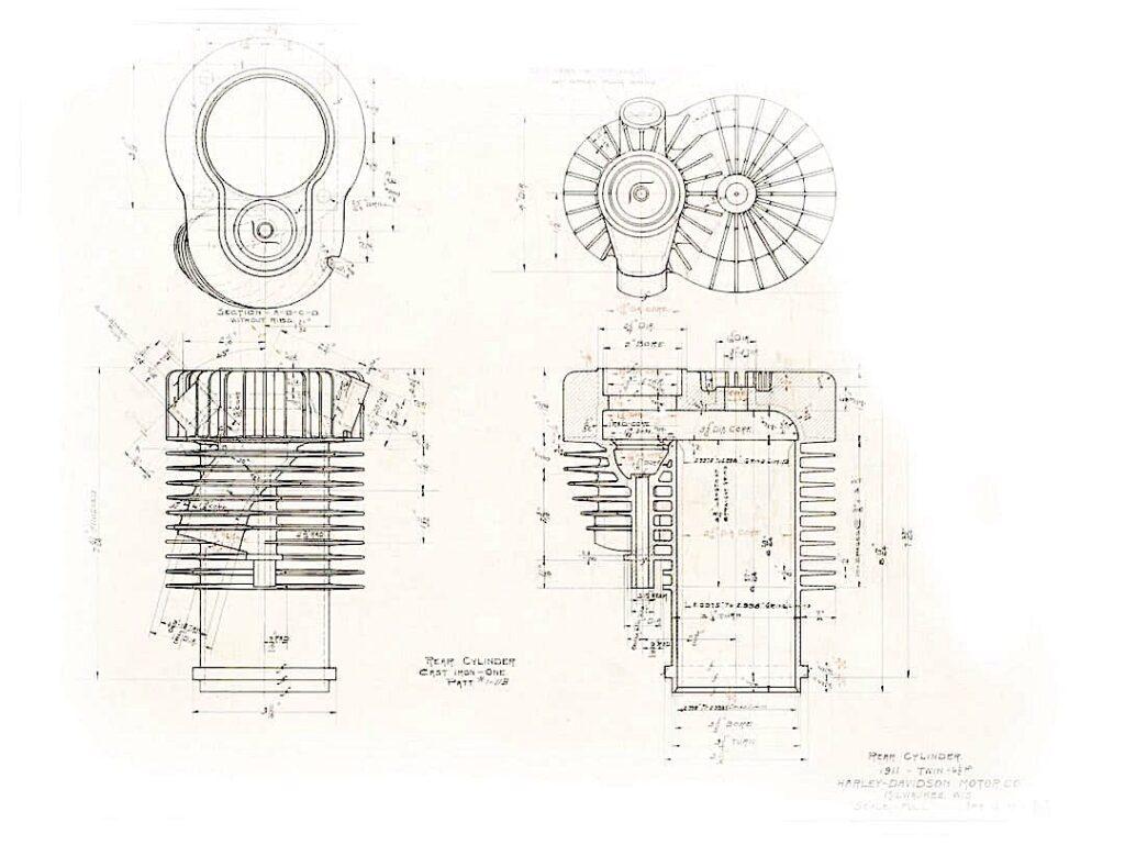 1911 - Patente culata cilindro Harley-Davidson