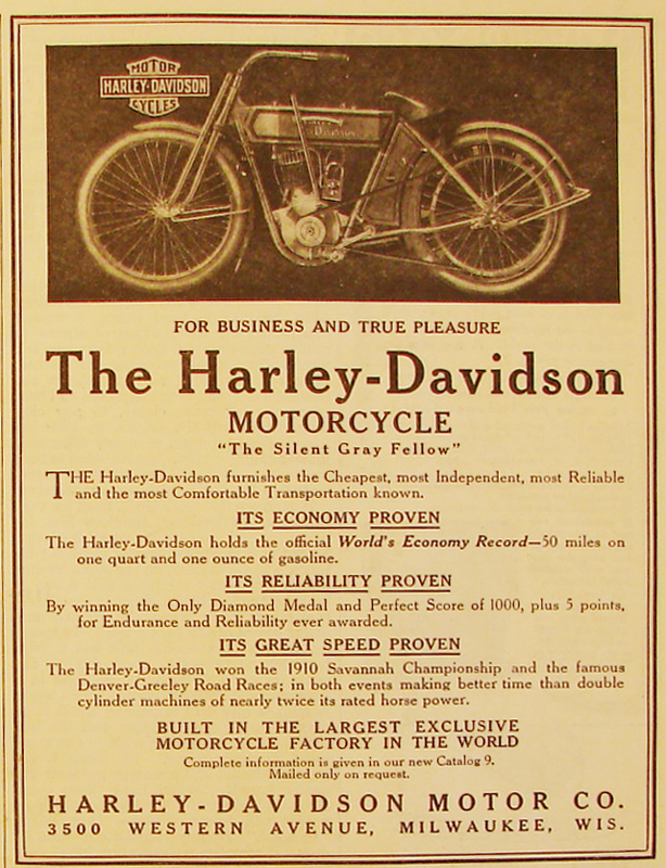 1911 - The Harley-Davidson Motorcycle for business and true pleasure