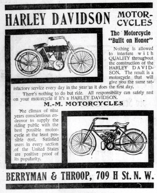 1909 - Harley-Davidson Built on Honor