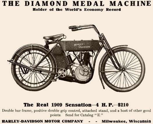 1909 - Harley-Davidson The Diamond Medal Machine