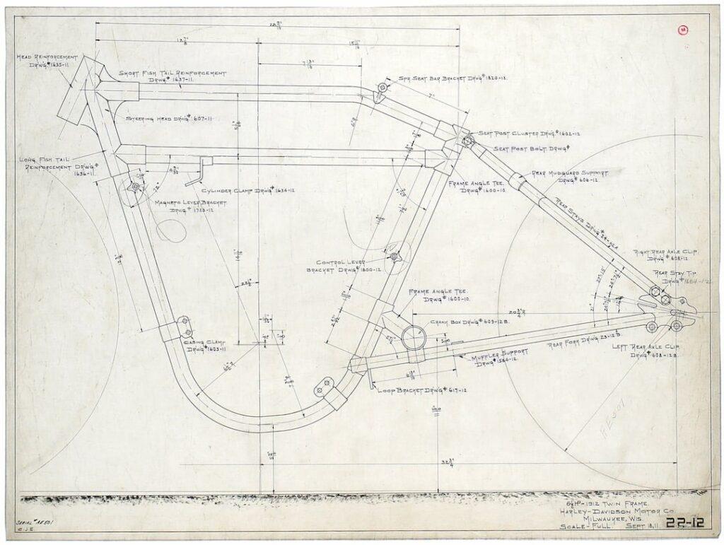1912 - Patente del chasis de los V-Twin