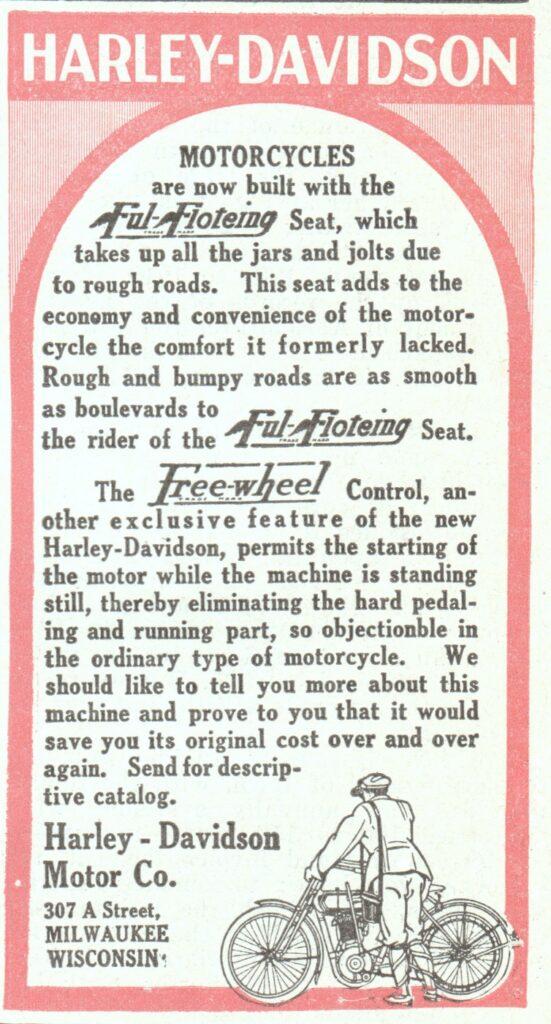 1912 - Harley-Davidson ful floeting seat