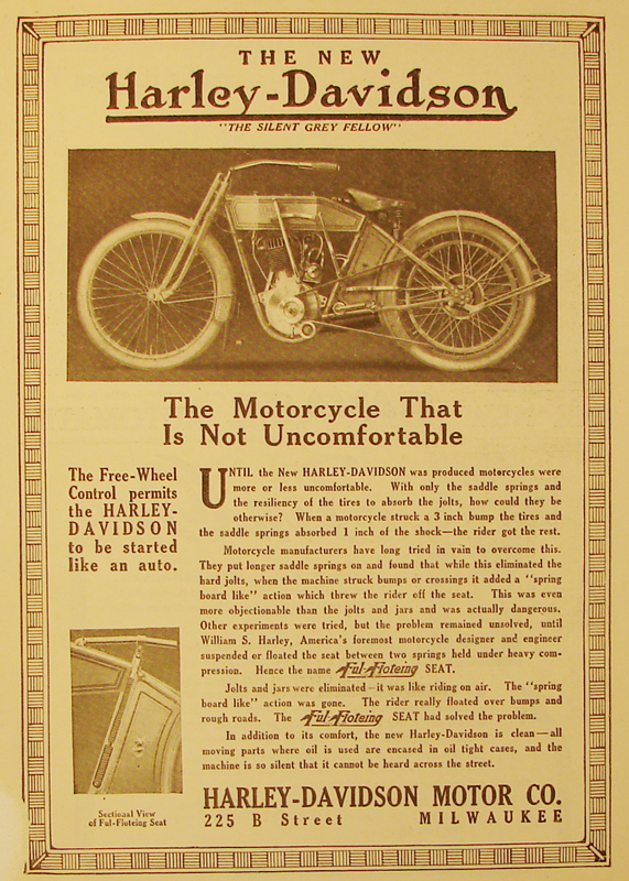 1912 - Harley-Davidson the motorcycle that is not uncomfortable