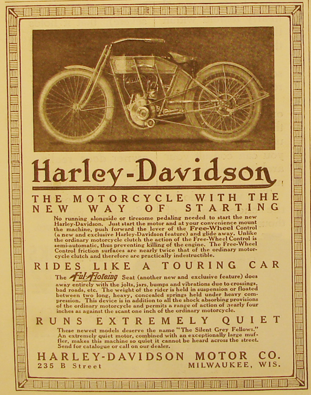 1912 - Harley-Davidson with the new way of starting