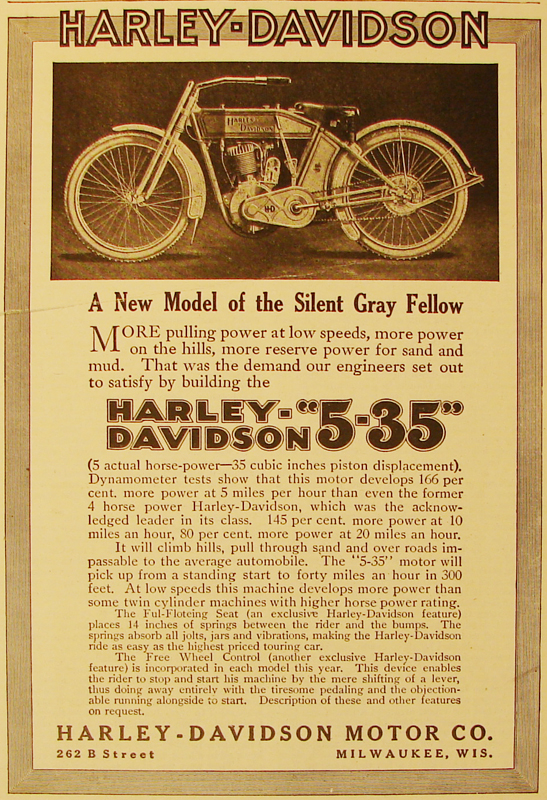 1912 - Harley-Davidson A new model of the Silent Gray Fellow