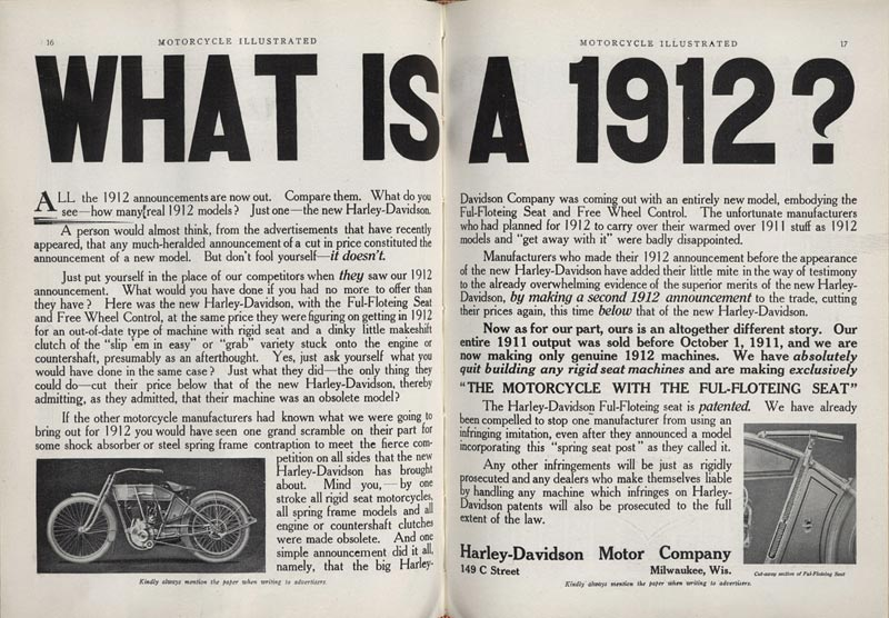 1912 - Harley-Davidson - What is a 1912
