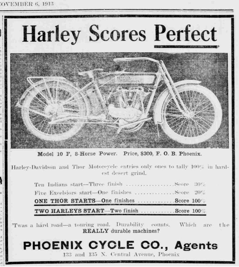 1913 - Harley-Davidson modelo 10F