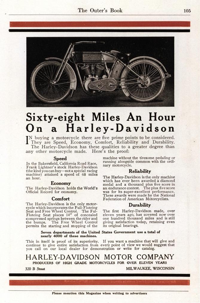 1913 - Harley-Davidson - Sixty-Eight Miles an Hour