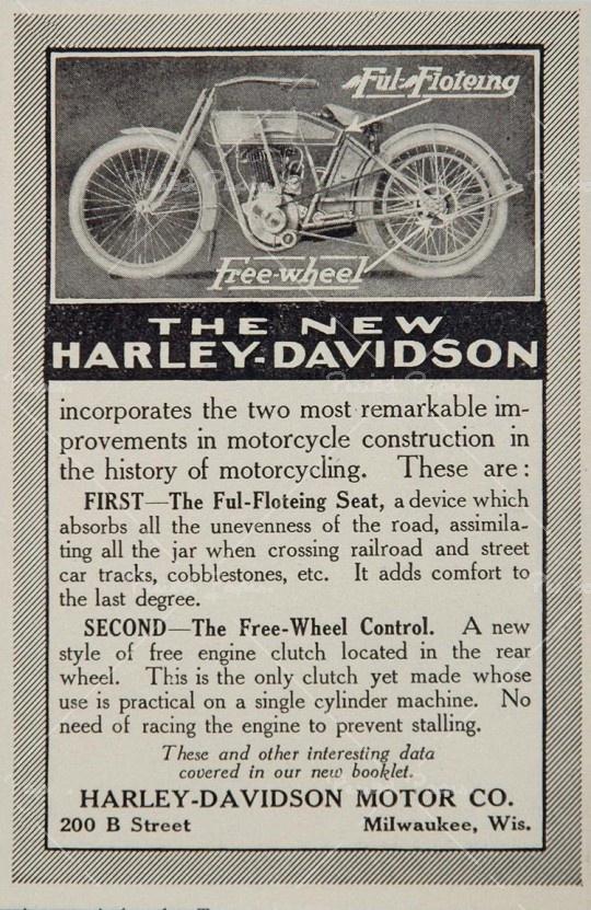 1913 - The new Harley-Davidson