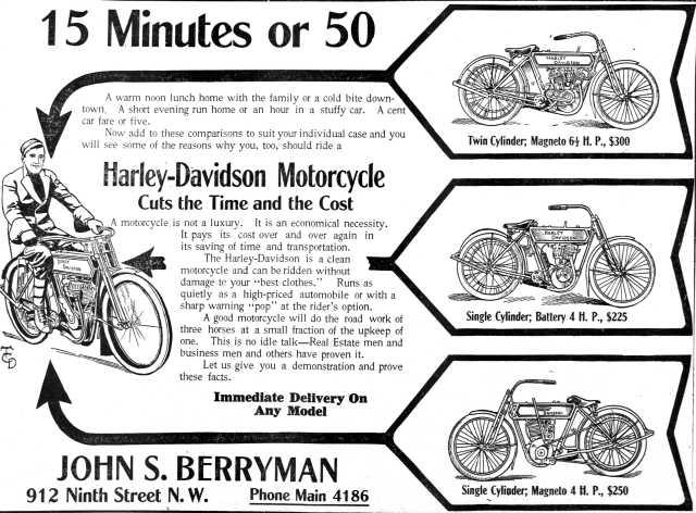 1911 - Harley-Davidson 15 minutes or 50