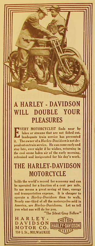 1911 - Harley-Davidson will double your pleasures