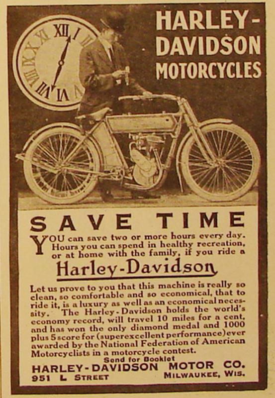 1911 - Harley-Davidson save time