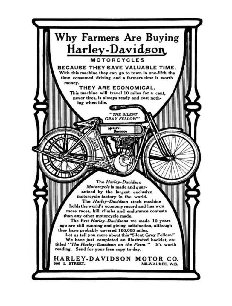 1911 - why farmers are buying Harley-Davidson