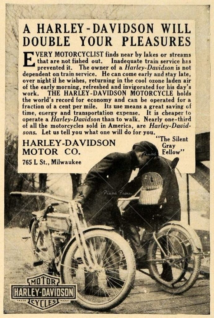 1911 - Harley-Davidson will double your pleasure
