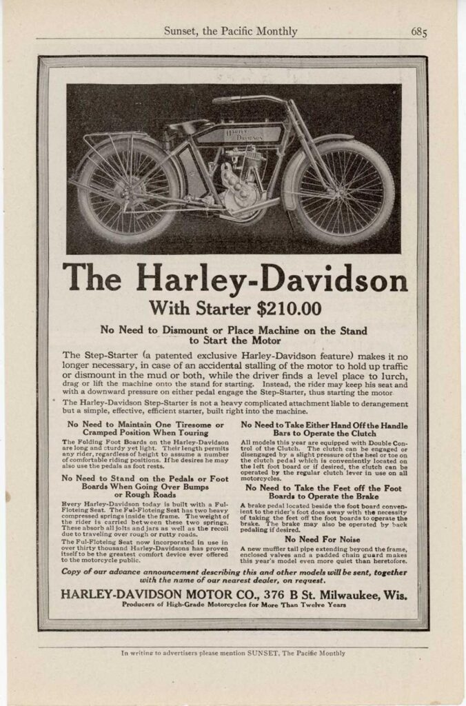 1914 The Harley-Davidson with starter