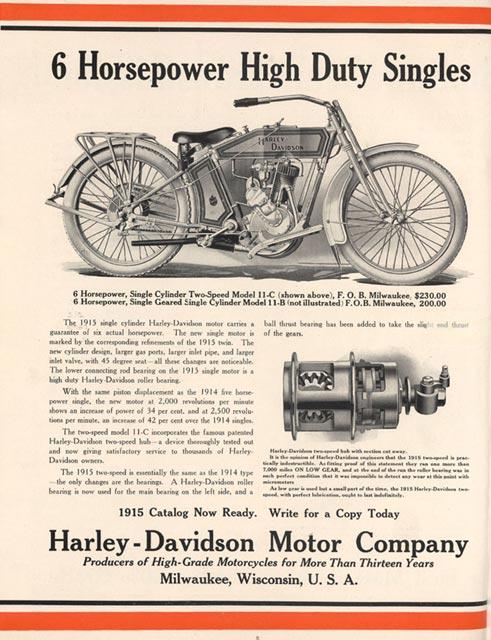 1915 - harley-davidson -folleto de ventas