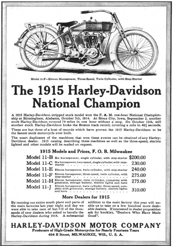 1915 - Harley-Davidson - National Champion
