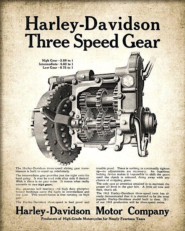 1915 - Harley-Davidson - Three Speed Gear