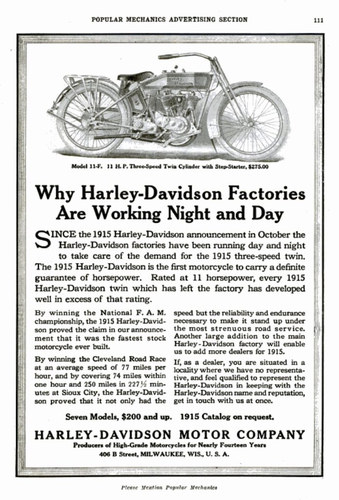 1915 - Why Harley-Davidson Factories Are Working