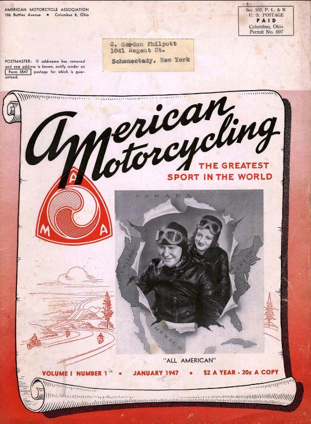1947-ene - American Motorcycling num. 1