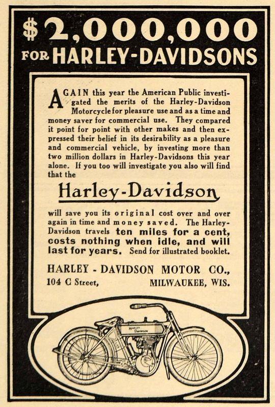 1911 - 2000000 dólares for Harley-Davidson