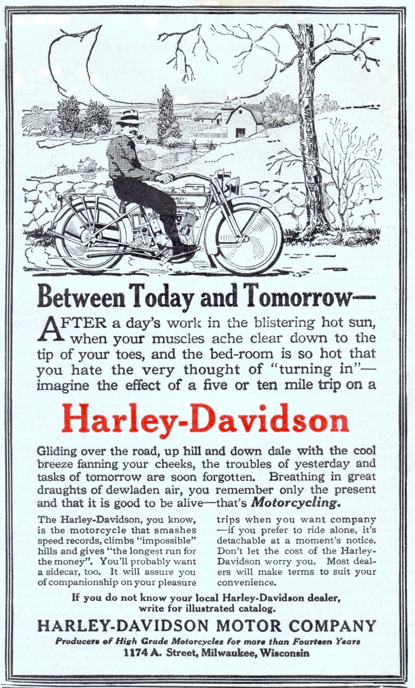 1916 - Between Today and Tomorrow Harley-Davidson