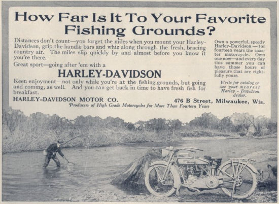 1916 - Harley-Davidson How Far is to Your Favorite