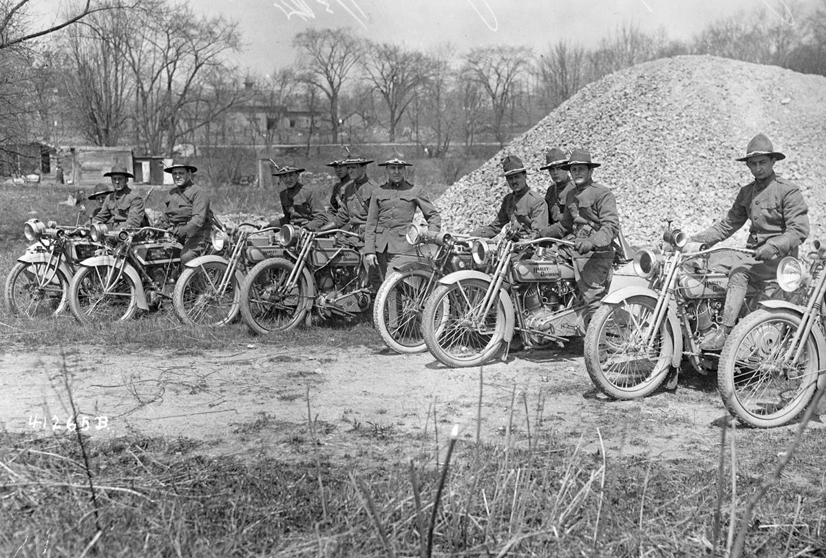1917 - Harley-Davidson en la Primera Guerra Mundial