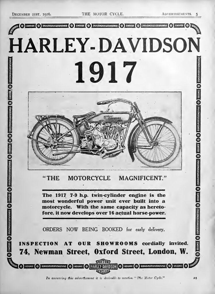 1917 - harley-davidson ads
