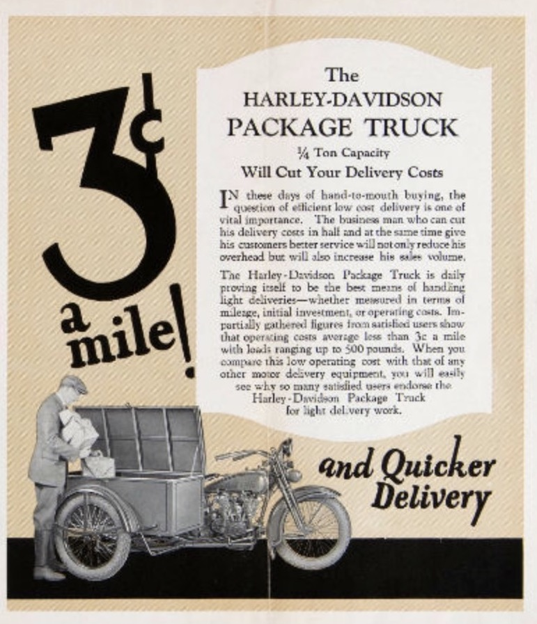 1916 - harley-davidson package truck