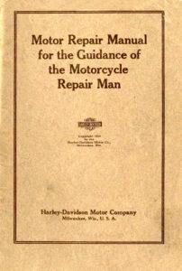 1918 - motor repair manual Harley-Davidson