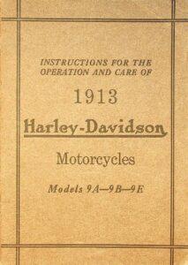1913 - Instructions