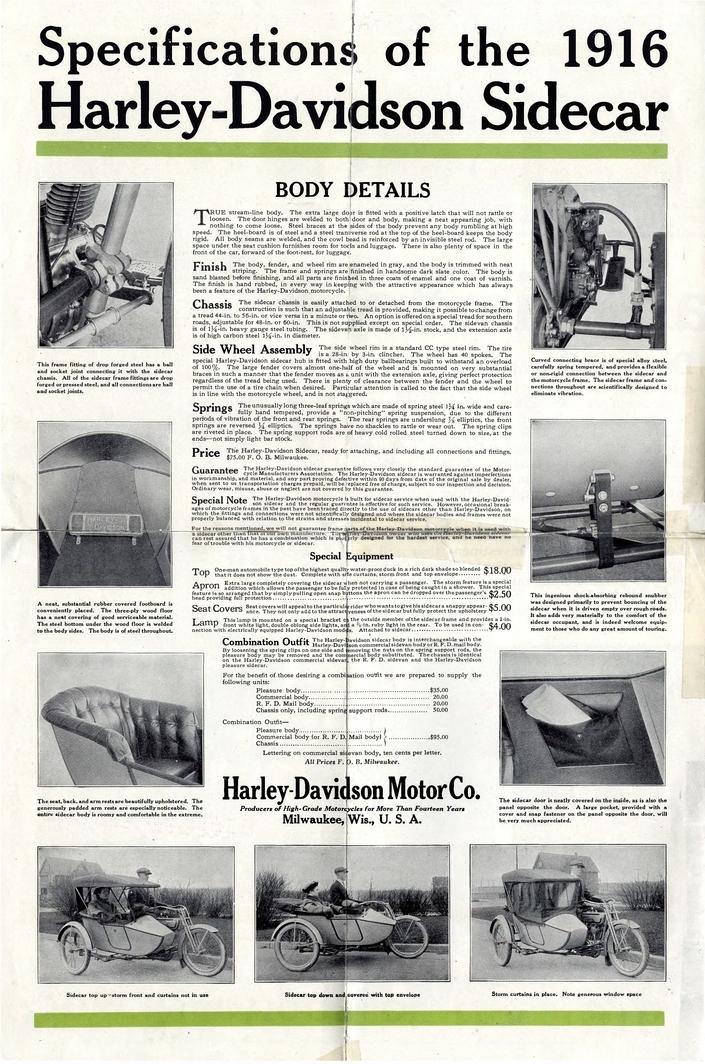 1916 - Folleto Harley-Davidson
