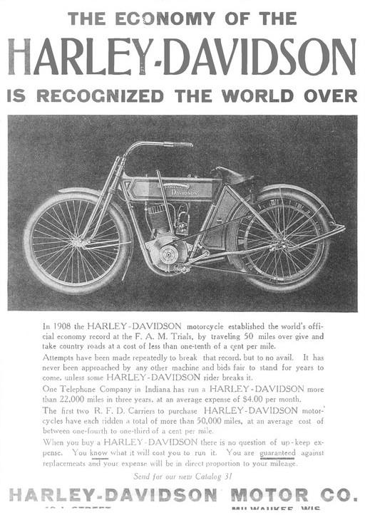 1911 - The Economy of the Harley-Davidson