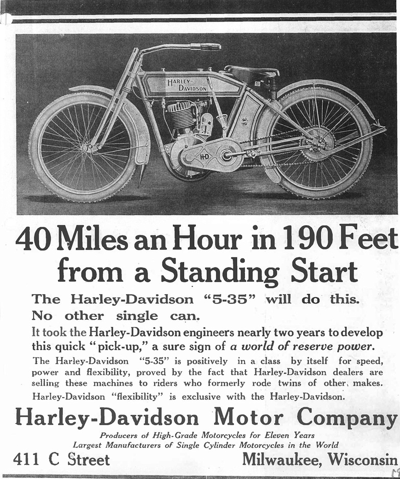 1913 - Harley-Davidson - 40 miles an hour